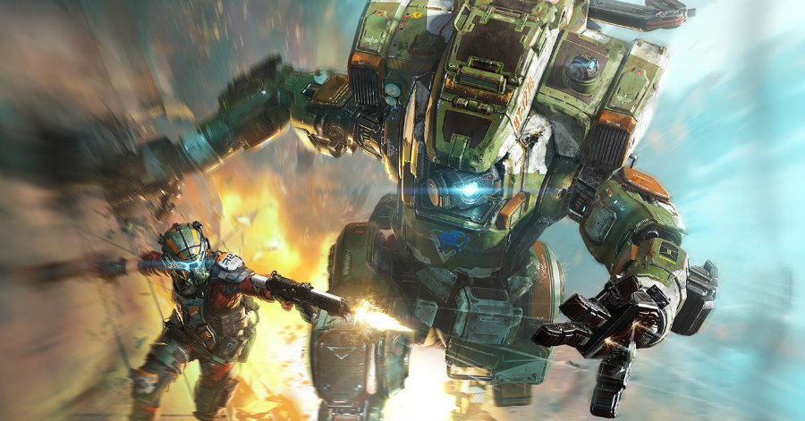 "Titanfall: Frontline's official wallpaper. Developer Particle City says it ""worked hand-in-hand with [Titanfall 2 developer] Respawn to weave in card battle strategy and collectibility. Image Source: Titanfall"