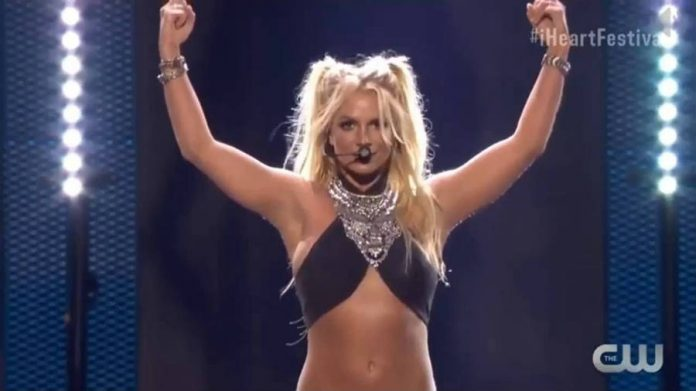 Britney Spears sang her greatest hits at the iHeartRadio 2016 Music Festival.