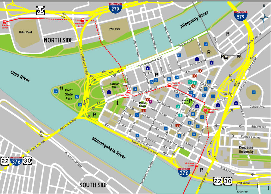 Pittsburgh_downtown_map_Uber_driverless_taxis