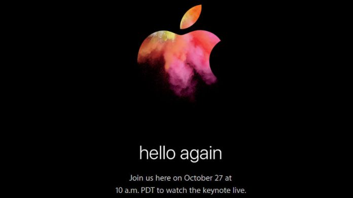 Apple-heello again-october 27-launching event