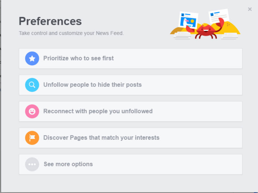Facebook News Feed Preferences. Image credit: TheUSBPort.