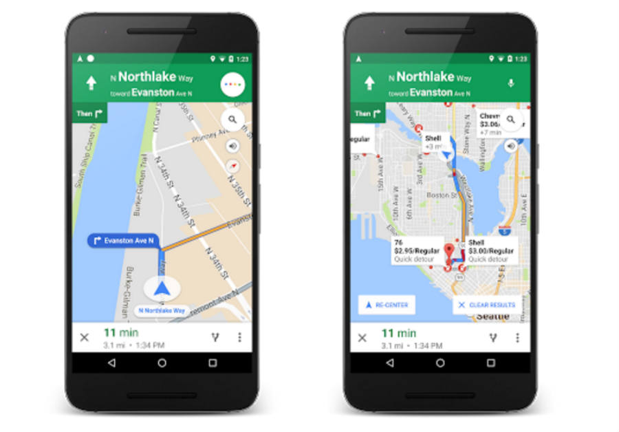 Google maps-Ok Google-Voice commands