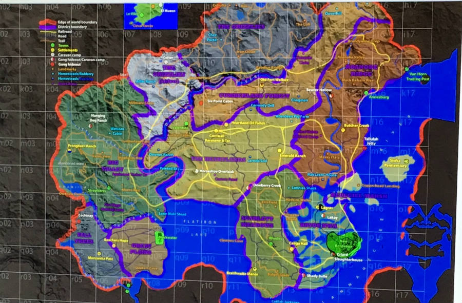 Red Dead Redemption 2 leaked map.