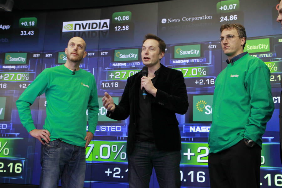 SolarCity founders, Lyndon and Peter Rive, are Elon Musk's cousins.