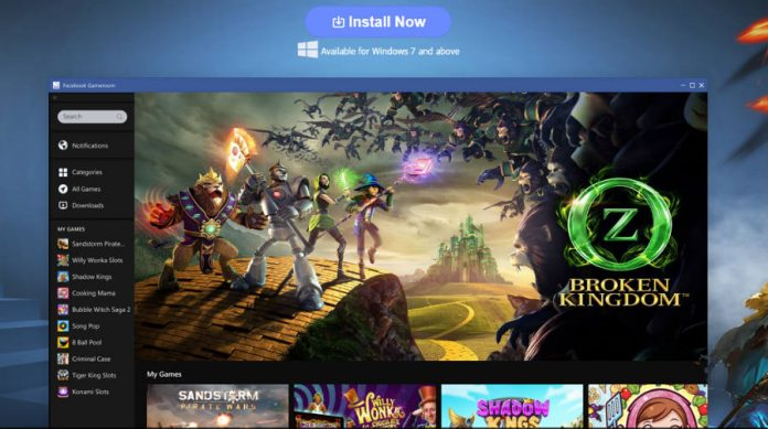 Facebook Gamesroom debuts on Windows.