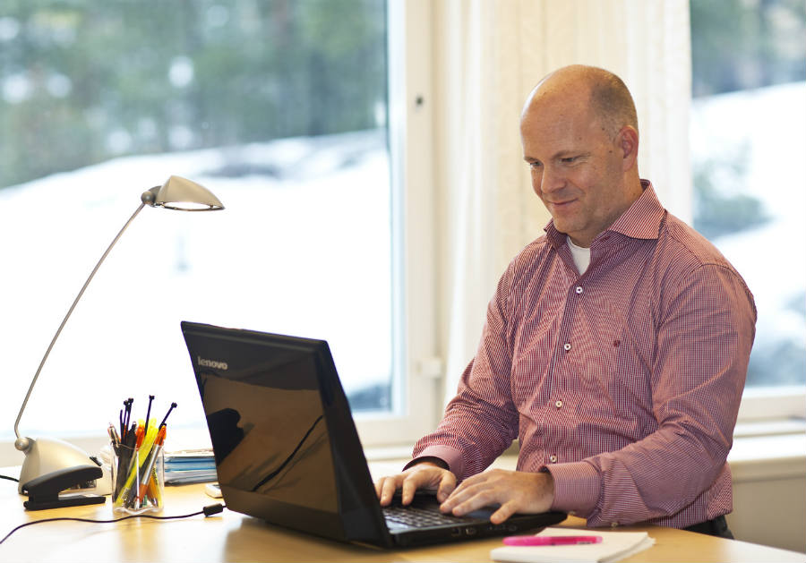 Henrik Eskilsson, Tobii CEO.