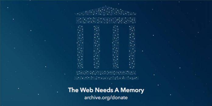 Internet Archive Donate photo.