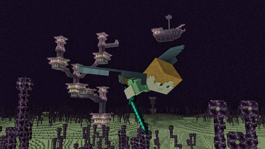 After defeating the Dragon in the Ender update a new world opens. Image: Xbox.