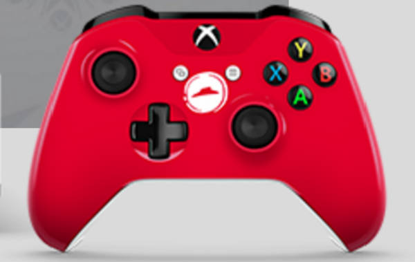 Pizza Hut's Xbox One S themed control.
