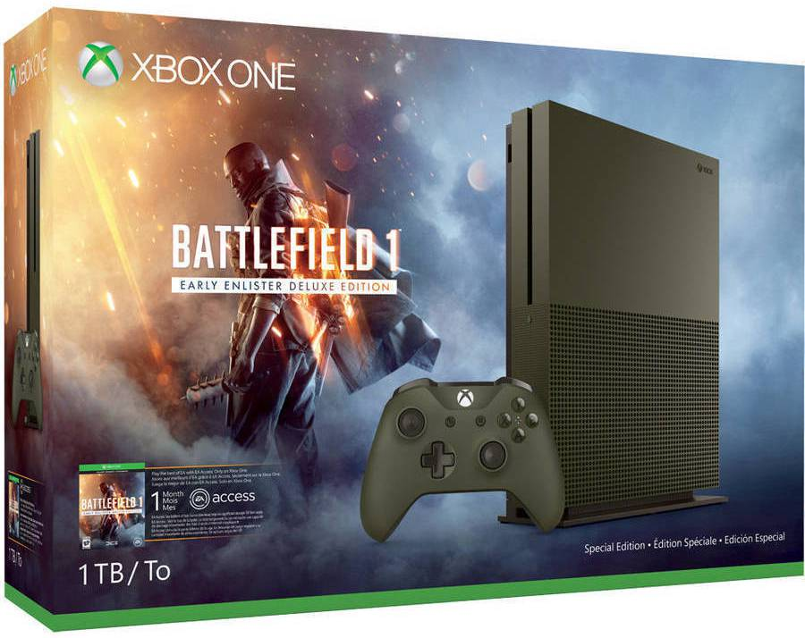 The 1TB Xbox One S Battlefield 1 Special Edition bundle. Image: Walmart.