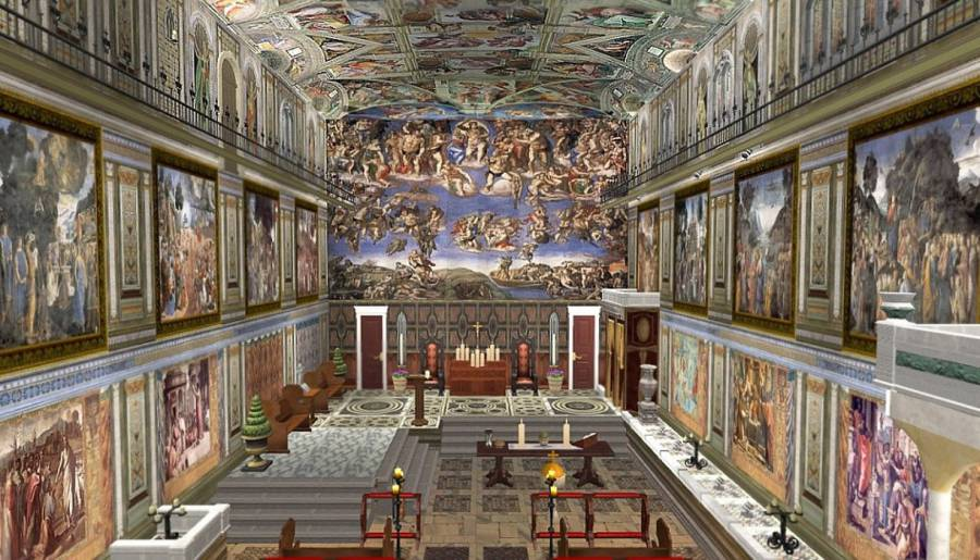 The Sistine Chapel photo. Image: Traveler Corner.