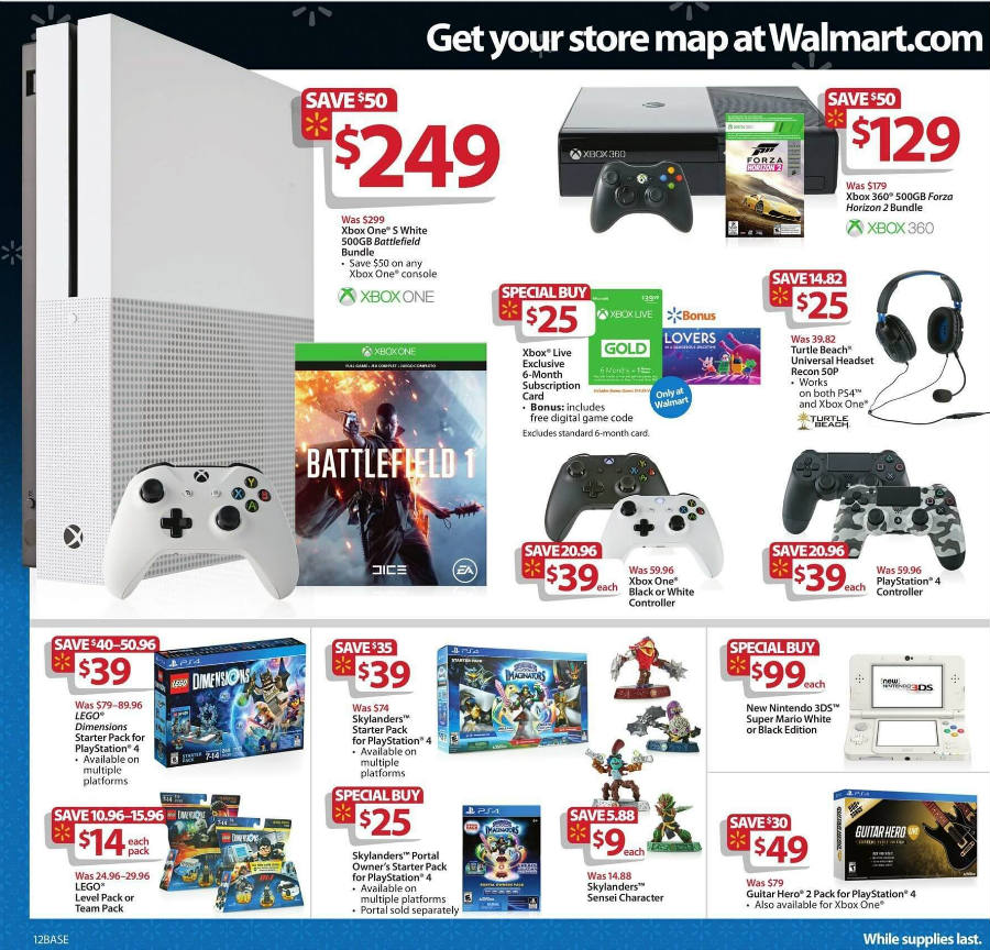 Walmart Black Friday ad video game deals.