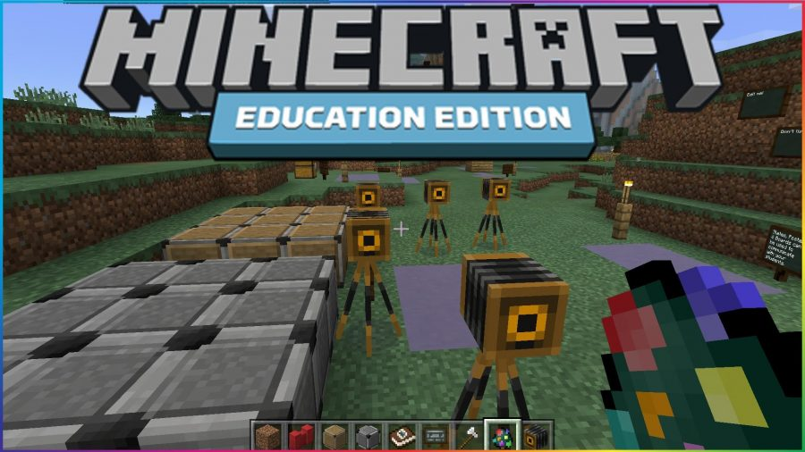 The critically-acclaimed sandbox environment of 'Minecraft' serves as a stage for several new Lesson Plans preloaded in the game for pupils as young as three to five years old. Image Source: YouTube