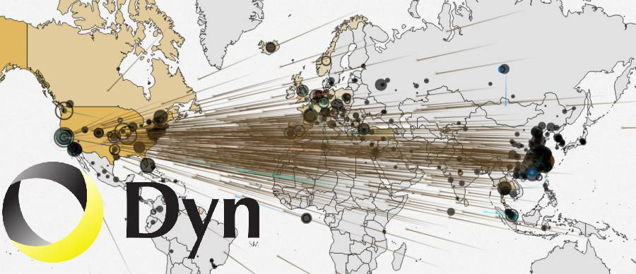 Dyn DDoS attack image.