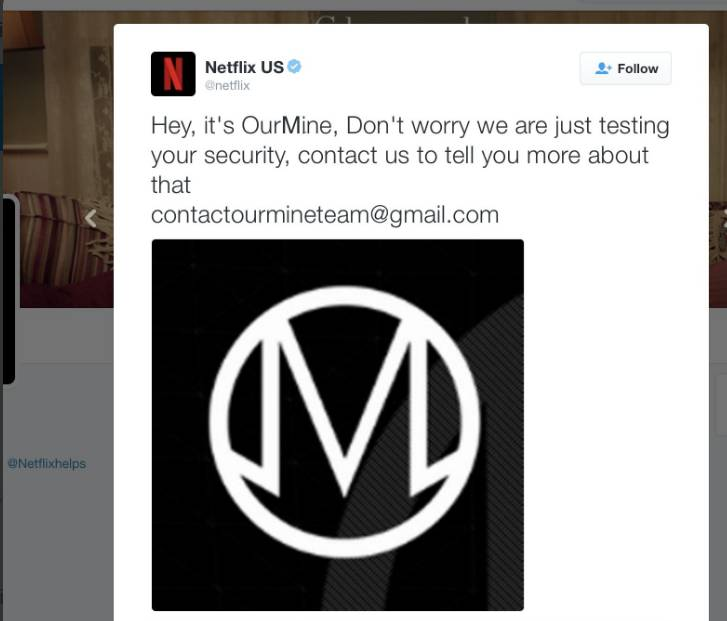 OurMine hacks Netflix's Twitter Account