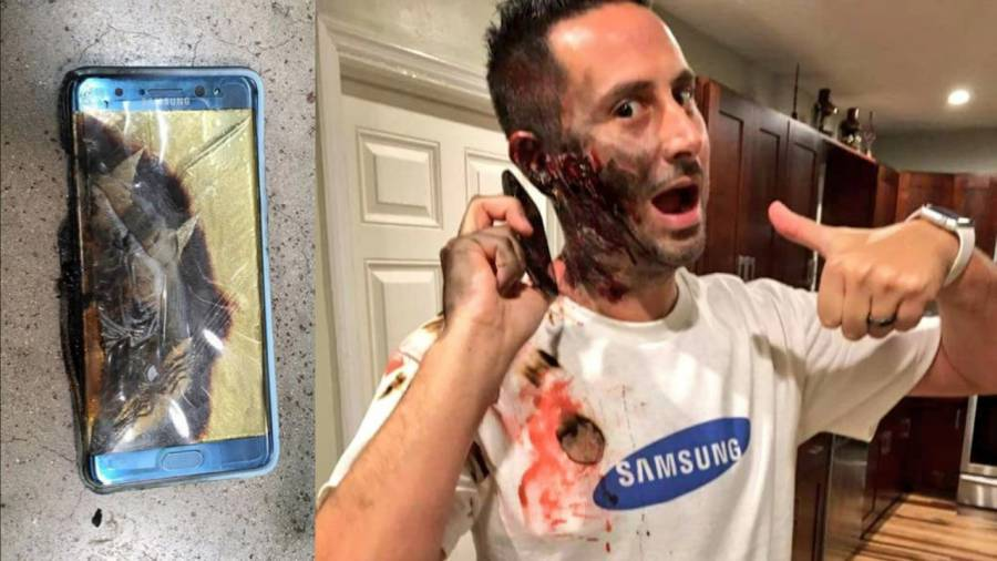 Samsung Galaxy Note 7 Halloween costume.