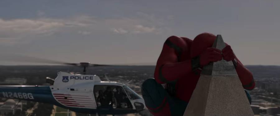 Spider-Man, homecoming in the Washington Monument