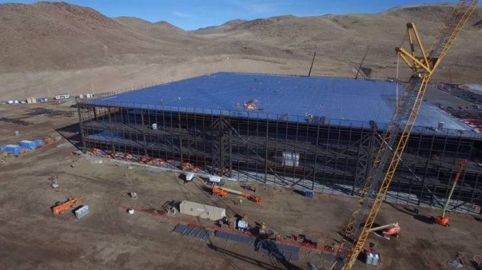 Tesla-Gigafactory,drone,4k