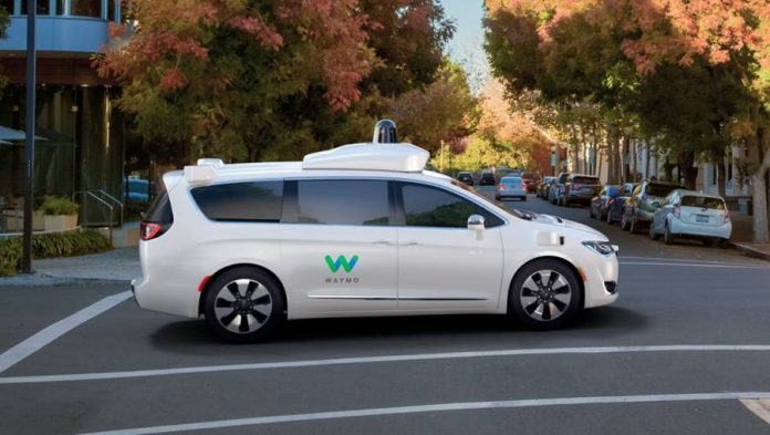 The Chrysler Pacifica Modified by Waymo.