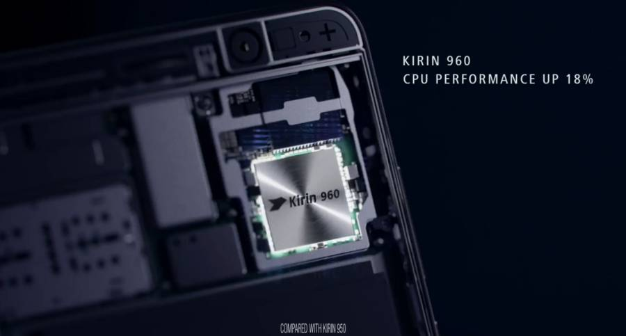 Huawei Mate 9 Kirin processor.