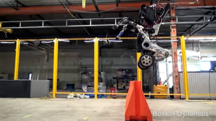 Boston Dynamics-Handle-Robot-Jumping
