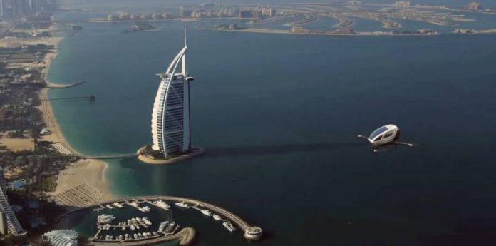EHang 184-Dubai-RTA-flying-taxi-drones