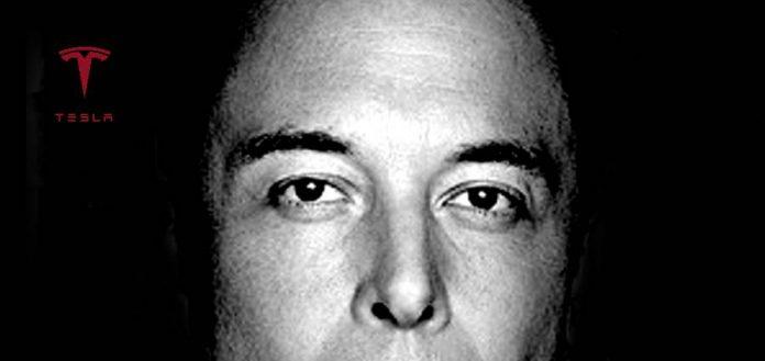 Elon Musk black and white