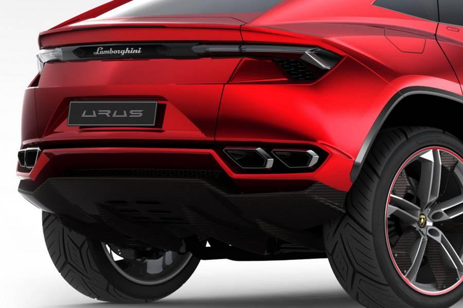 Lamborghini Urus 2012 Concept rear view
