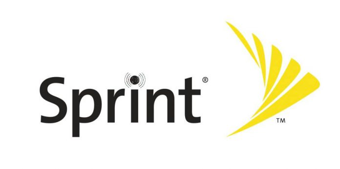 Sprint logo with wireless theme