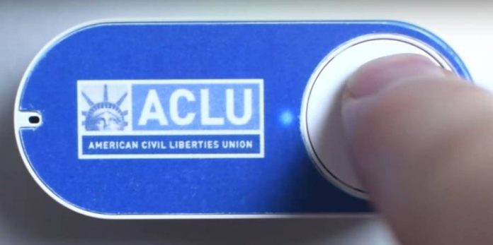 This ACLU Dash Button lets you donate $5 to anti-Trump groups.
