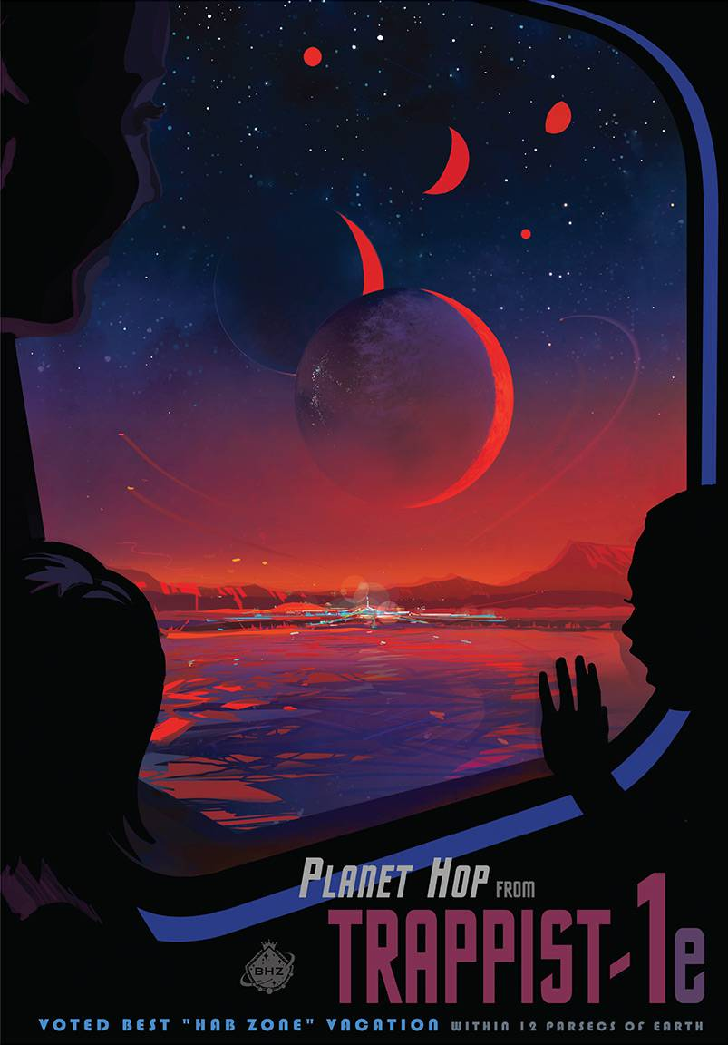 Trappist-1 poster by NASA.