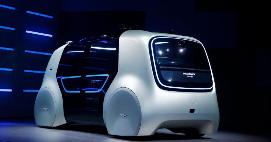 VW Sedric autonomous car displayed at the GAS 2017