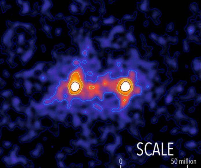 Dark matter's fisrt image by the University of Waterloo