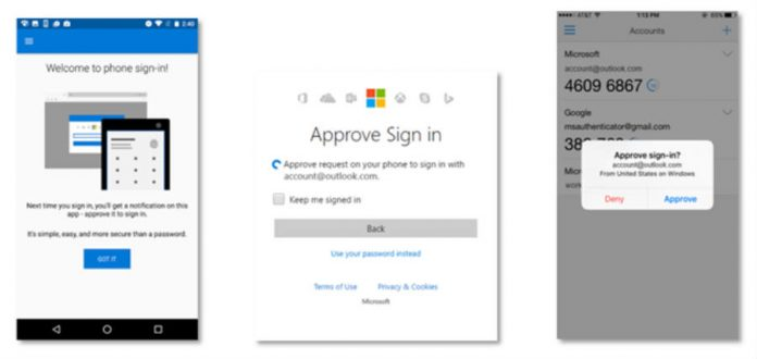 Microsoft's new authenticator demo