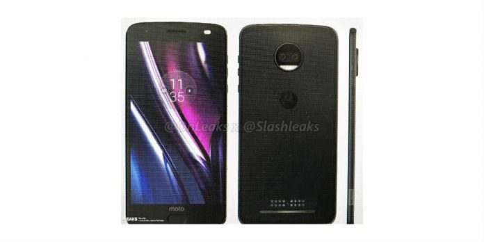 Moto Z2 Force leaked image