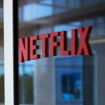 Netflix Logo on glass window