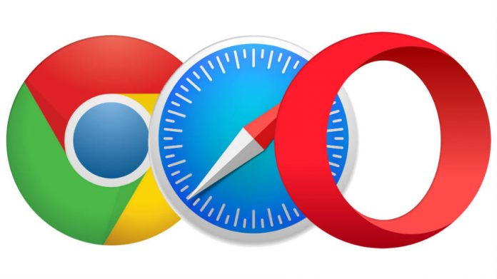 Google Chrome, Safari, and Opera's logo