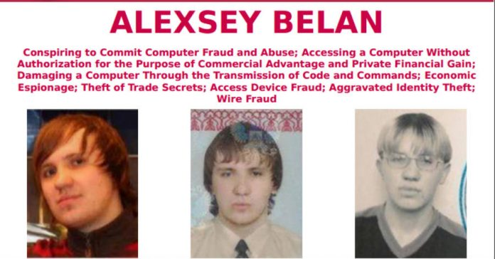 Alexsey Belan Most wanted poster