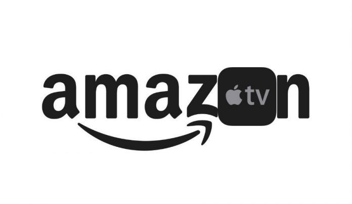 Amazon Primer Video and Apple TV logo combined