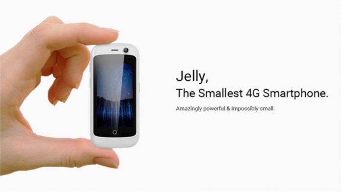 Jelly, the smallest android smartphone