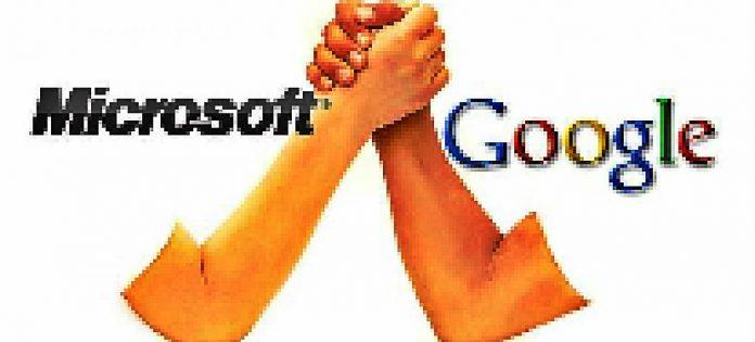 Google and Microsoft image