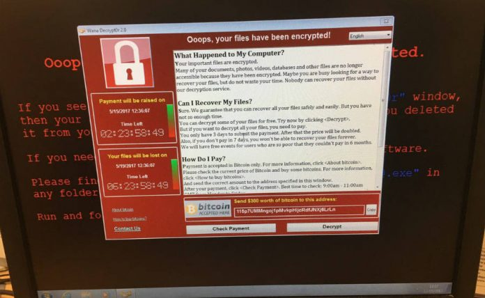 Computer infected with ransomware