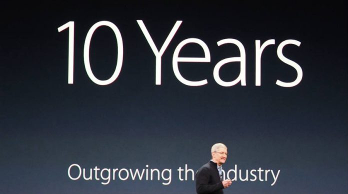 What will apple do on the th anniversary of iphone