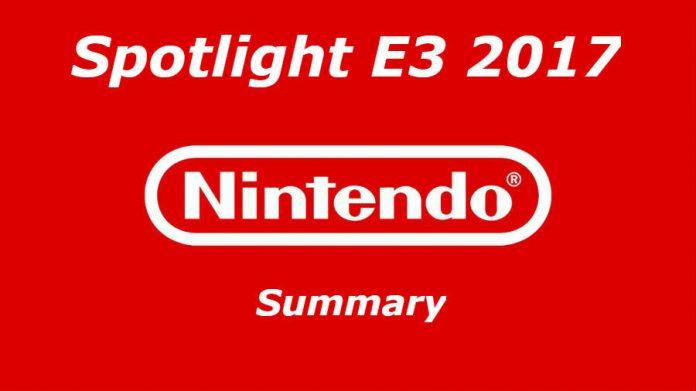 Nintendo Spotlight E3 2017 Nintendo Switch game list