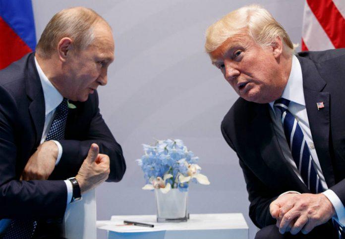 Vladimir Putin and Donald J Trump