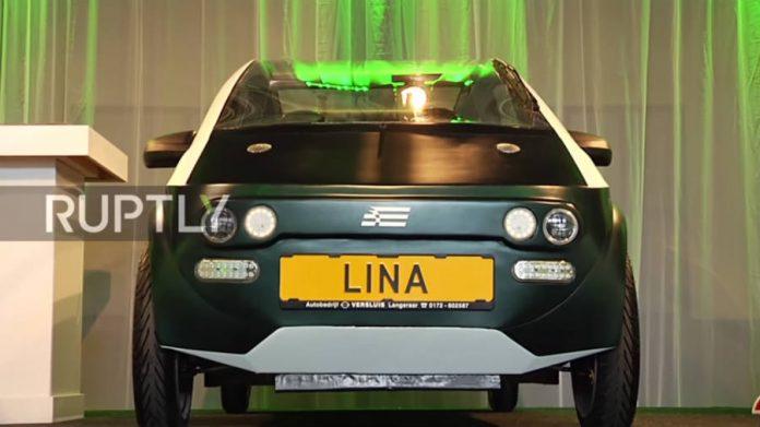 LINA,biodegradable car, green car, eco car