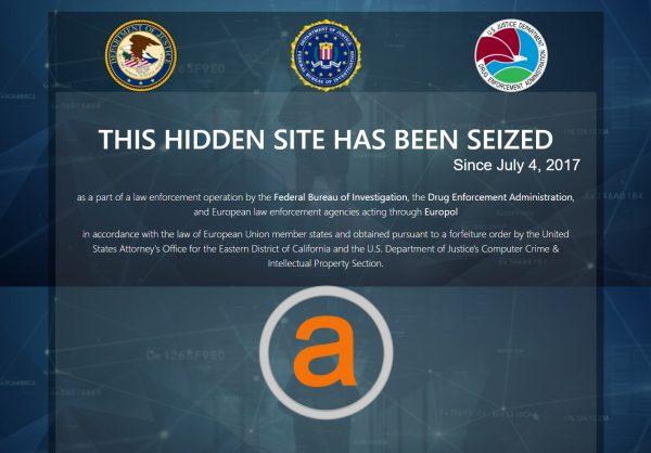Dark net markets seized by authorities
