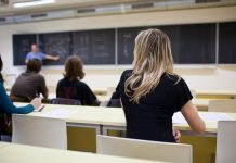 College Students Attending Class