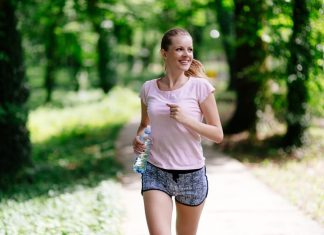 Stay Fit Woman Jogging