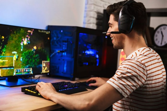 Professional Gamer Playing
